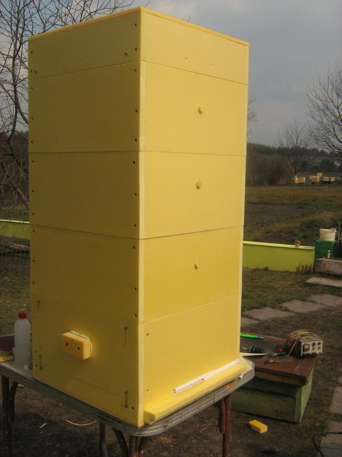 Ульи для пчел из пенополистирола своими руками