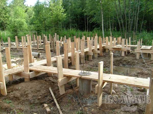 Заливка свайного фундамента своими руками - Всё о строительстве