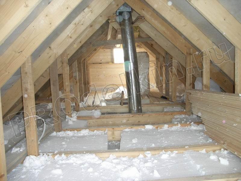 Утепление перекрытий в деревянном доме.