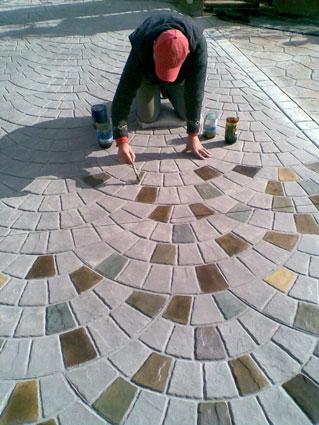 Технология декоративный бетон