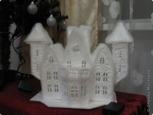 Новогодний домик поделка фото